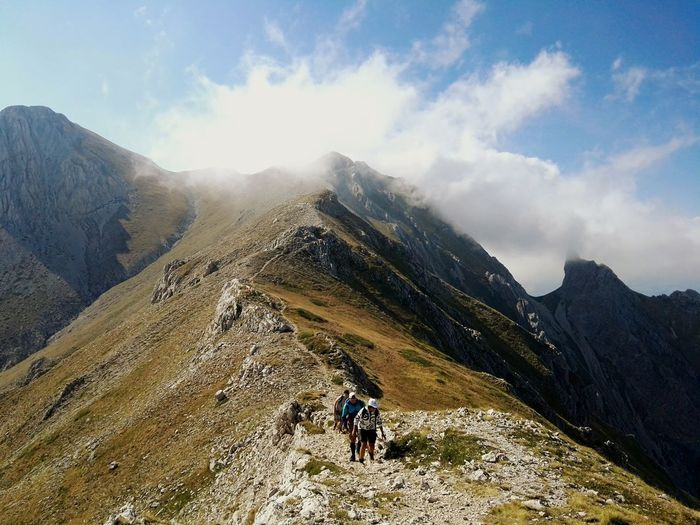 Monte Camicia - Agosto '17 Mountain Hiking Adventure Vacations Cloud - Sky People Mountain Range Exploration Travel Leisure Activity Scenics Sunlight Exercising Mountain Peak EyeEmNewHere Go Higher