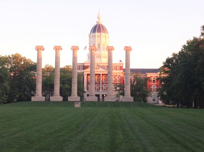 Architectural Column Built Structure Coloumns Missouri Saintlouis University University Of Missouri