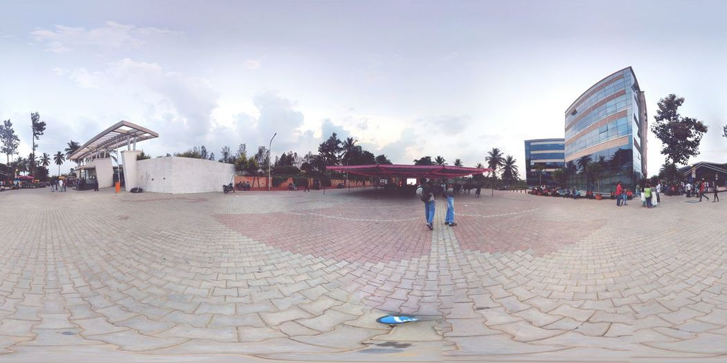 DSATM, a silent University in middle of a Forrest Building 360 Panorama 360° 360camera Sky And Clouds College First Eyeem Photo