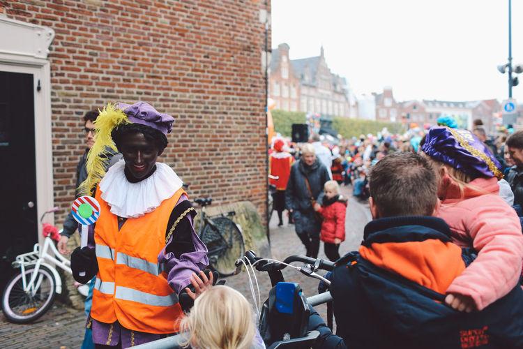 Architecture City Crowd Day Festival Festival Season Grote Markt Headwear Large Group Of People Men Netherlands Only Men Outdoors People Real People Saint Nicholas Sint-Nicolaas Sinterklaas Zwarte Piet