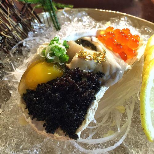 Blackcavier Egg Oyster  Artoffood Food Foodporn Foodphotography Japanese Food