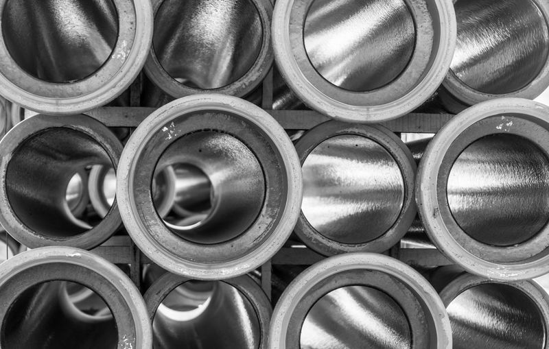 Krull&Krull Black And White Black & White Construction Construction Site Pipeline Reflection Abundance Arrangement Backgrounds Black And White Circle Close-up Construction Industry Day Full Frame Indoors  Industry Large Group Of Objects No People Pipe Pipe - Tube Pipes Stack The Creative - 2018 EyeEm Awards