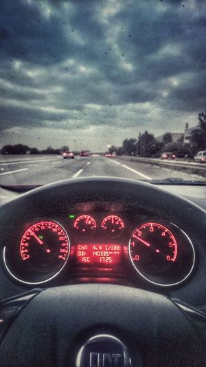 Mi Mundo  Conduciendo Autopista Car Relax Enjoy My Word Happy Fiat My Photo