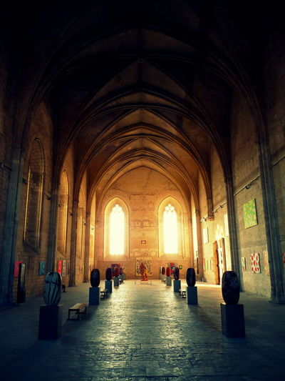 Arcade Arch Arched Architectural Feature Architecture Ceiling Church Flooring Group Of People History Indoors  Interior Local Landmark Long Pew Place Of Worship Religion Sitting Spirituality The Way Forward Worship