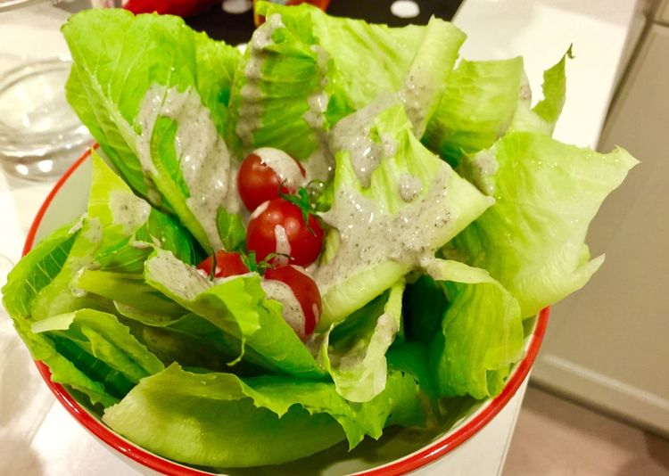 Green salad Food And Drink Food Healthy Eating Freshness Wellbeing Vegetable Fruit Indoors  No People Close-up Leaf Bowl High Angle View Plant Part Salad Green Color Leaf Vegetable Still Life Ready-to-eat Tomato