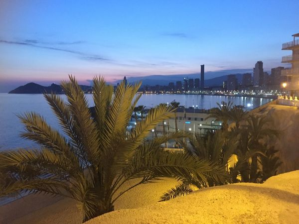 Afterglow Beatiful Evening Light Your Ticket To Europe Beach Beauty In Nature Building Exterior Evening Atmosphere Outdoors Palm Tree Sand