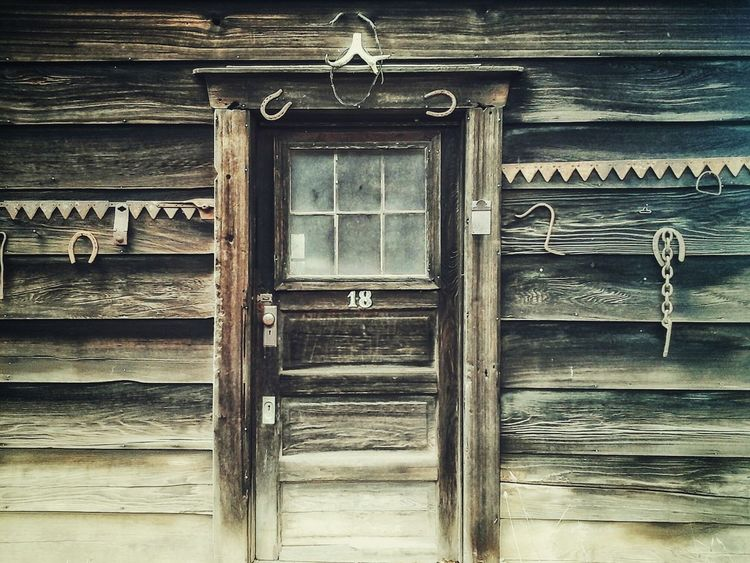 ~I wonder what's behind door number 18..😉~ Doors With Stories Old Buildings Worn Out & Wonderful  Pattern, Texture, Shape And Form Rusty Goodness Rural Life Peace And Quiet Taking Photos Worn Wood Old But Awesome Enjoying Life From My Point Of View