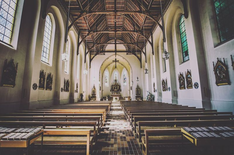Old Church built of wood in lower Germany Travel Passau Travel Destinations Streetphotography EyEmNewHere Built Structure Belief Architecture Religion Place Of Worship Spirituality A New Beginning Indoors  No People Aisle Pew Building Ornate Architecture And Art Arch Seat Architectural Column Ceiling In A Row Altar 2018 In One Photograph