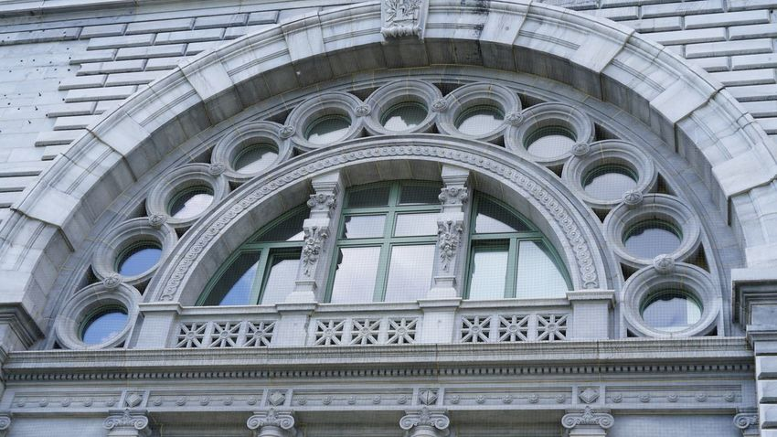 Detail of Central Station of Antwerp EyeEm Selects Architecture Built Structure Day Building Exterior Low Angle View No People Outdoors City Close-up Grey EyeEm Gallery Architecture_collection Architecture Architectural Detail Architectural Design Building Façade Low Angle View Outdoor Photography Old Renovated Building