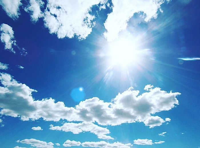 Heaven Cloud - Sky Blue Sky Cloudscape Nature Sun Sunlight Bright Backgrounds Summer Day Beauty In Nature Outdoors Sky Only No People Scenics Beauty