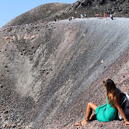 ?.. Isola vulcanica Santorini!!.. Emozioni Cratere Pacedeisensi