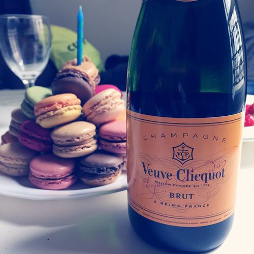 Paris France Frenchmacaroons Birthday Cake Champagne Veuve Clicquot Birthday