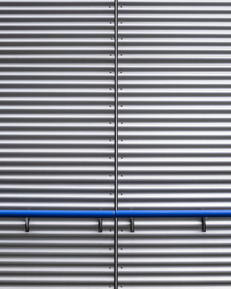 Architecture No People Day Pattern Metal Closed Backgrounds Full Frame Protection Striped Security Textured  Iron Corrugated Iron Wall - Building Feature Iron - Metal Silver Colored Repetition Safety