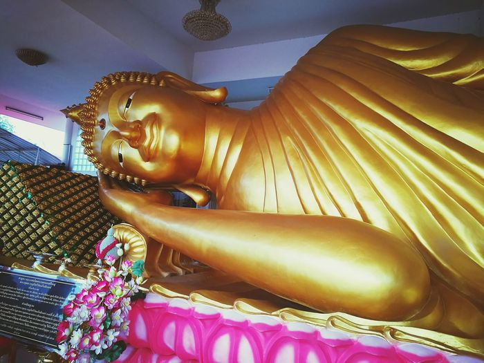 Gold buddha statue in temple