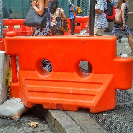 Blockade The 00 Mission Orange Color Blocking My Way New York City In The City Urban Living