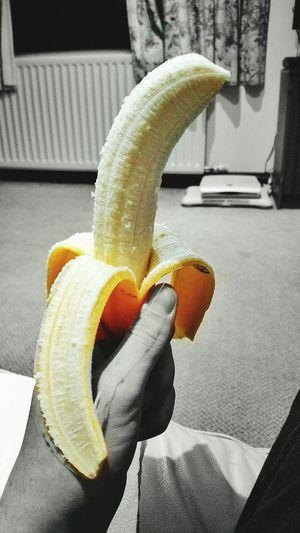 Bannana anyone? Healthy Fruit 5aday Colour Blackandwhite