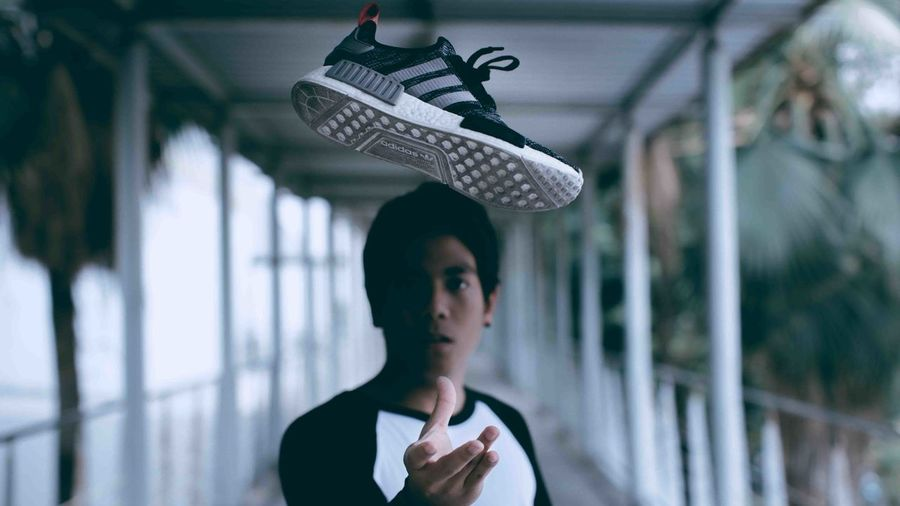 Sneakers Head One Person Portrait Young Adult Headshot Clothing Focus On Foreground Looking Serious Teenager Human Face Real People Day Contemplation Sneakers Sneakerhead  Sneakersaddict Swag Cool Hypebeast  Fashion Fashion Photography Sports Clothing Adidas Nmd Stop Motion
