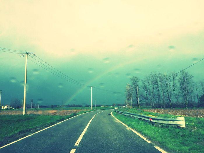 Transportation Sign Sky Symbol Road Marking Nature Rain
