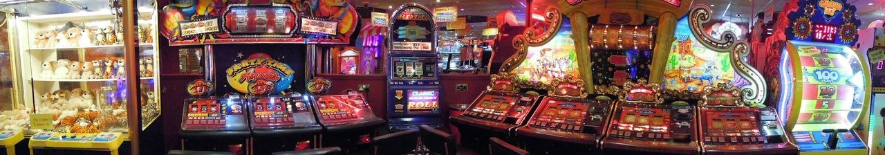 Arcade Arcade Games Arcade Machine Fruit Machine Fruit Machines Gambling Flashing Lights Panaromic Photos Slotmachines Games Game Of Chance Luck Games Of Luck