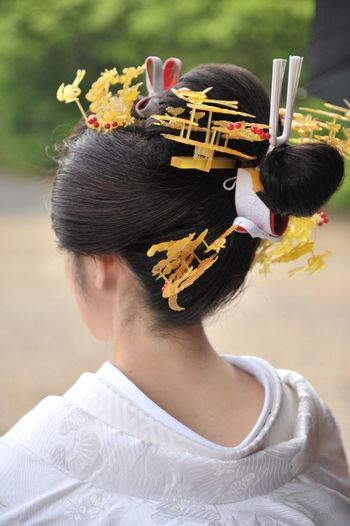 Japan Japan Photography Wedding Woman Black Hair Close-up Day Fashion Flower Flowering Plant Focus On Foreground Hair Hairstyle Headshot Lifestyles Nature One Person Outdoors Portrait Real People Rear View Women Young Adult