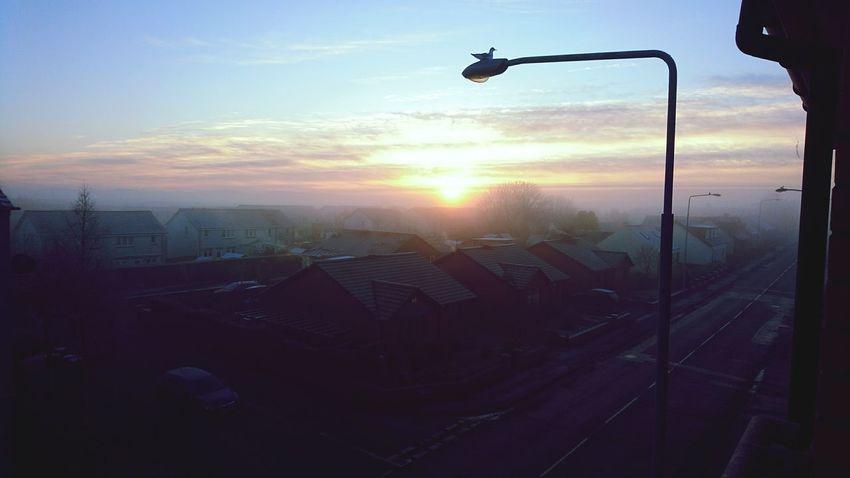 Sunrise Frosty Bird Vista My Scotland Sunset Silhouette City Sky No People Cityscape Outdoors Industry Day