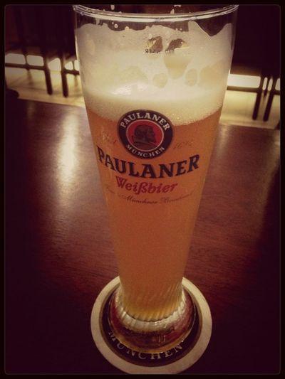 Perfect German Bier. #Paulaner #Brotzeit #Weisbier