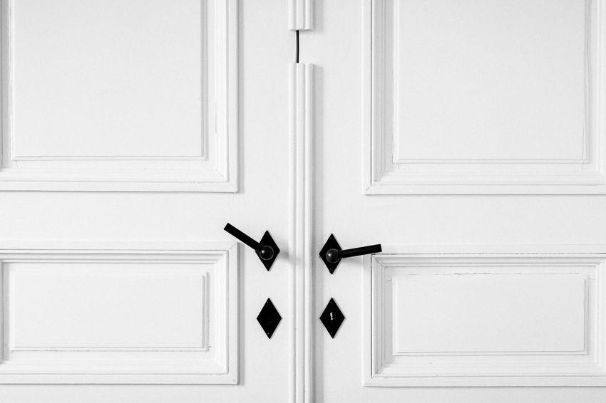 Just door. Just white. Door Front Door Lock No People Doorknob Indoors  Close-up Modern Apartment White All White Minimalism Minimal Straightlines
