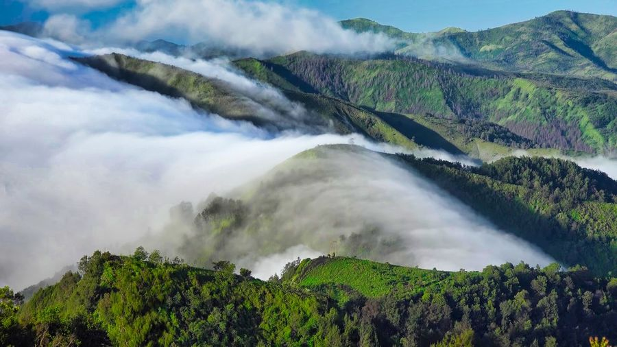 Amazing view of bromo mountain, located in east java, indonesia