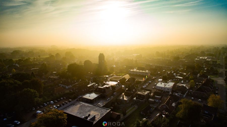 Yesterday's sunrise over Tolbert, Groningen. Cityscape Sunlight Sunbeam Sky Sunrise Sunrise_sunsets_aroundworld Dji Dronephotography Groningen The Netherlands Leek ROGA Roga - Photography & Video