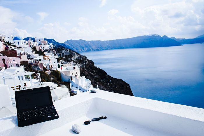 Santorini Holiday Amazing View Beautiful View Technology Enjoying The View Summertime Sea View Seaside