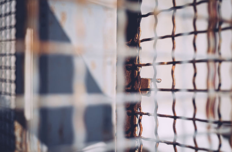Cage Close-up Day Daytime Focus On Foreground Layers Layers And Textures No People Outdoors Rusty