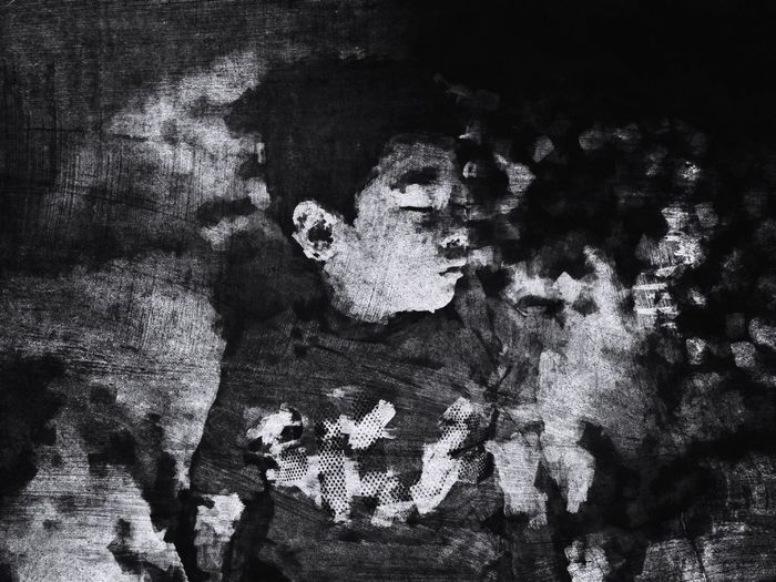 Painting effects using iPhone apps. Digital Art Digital Painting Art Boy Sleeping Sleep Black And White Blackandwhite IPhoneography Iphone Apps