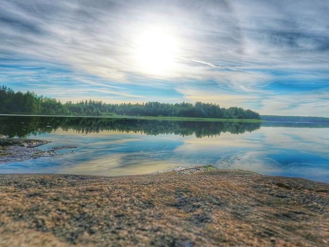 Lake View Reflection In The Water Beauty In Nature Littoisten Järvi No People Sunrise_Collection