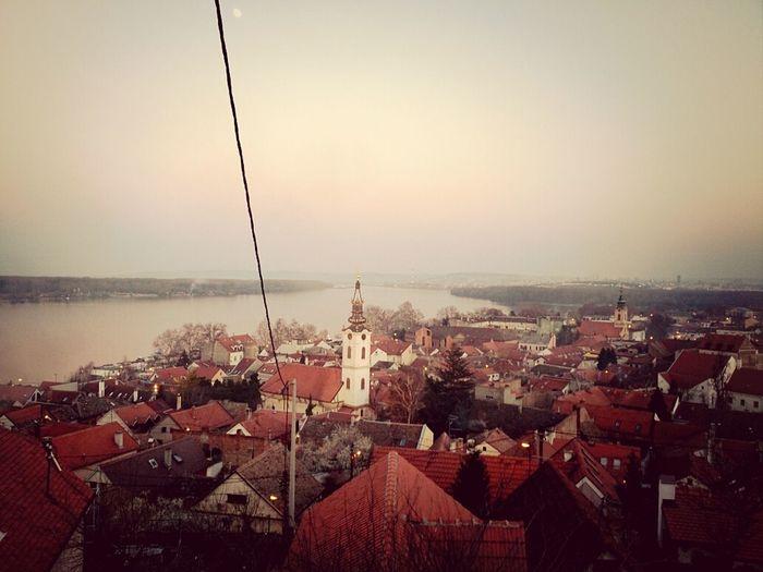 Landscape Old Town Riverside Danube