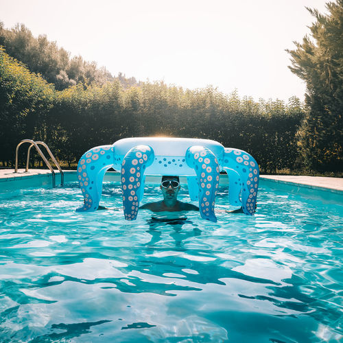 Inflatable  Inflatable Ring One Person One Man Only Men Summer Octopus Fun Pool Water Swimming Pool Tree Underwater Splashing Swimming Floating In Water