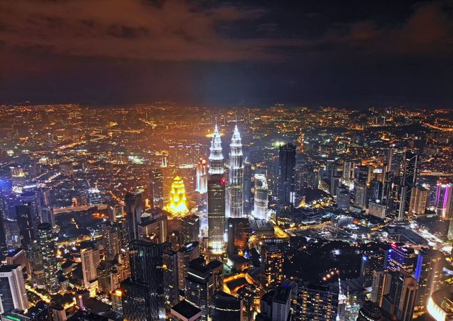 Kuala Lumpur city view at night View Nature Landscape Beauty Travel Travel Destinations Aerial Shot Aerial Photography EyeEm Selects Getty Images EyeEm Best Shots Kuala Lumpur Malaysia City Cityscape Urban Skyline Illuminated Skyscraper Nightlife Awe Aerial View Sky Architecture Office Building Tower Financial District  Skyline Tourist Attraction  Office Building Exterior Downtown District