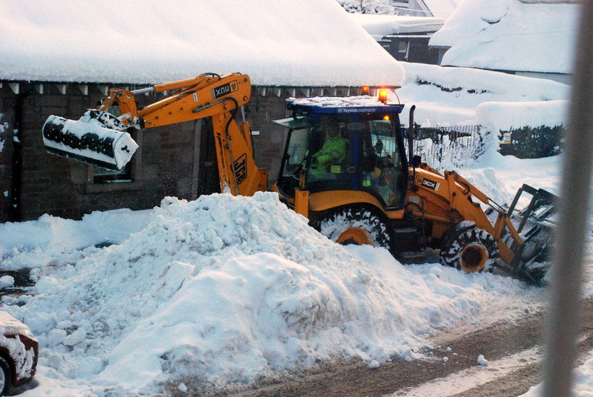 JCB Clearing Snow Cold Temperature Construction Site Day Earth Mover Land Vehicle Nature No People Outdoors Sky Snow Snow Clearing Snow Drift Transportation Winter