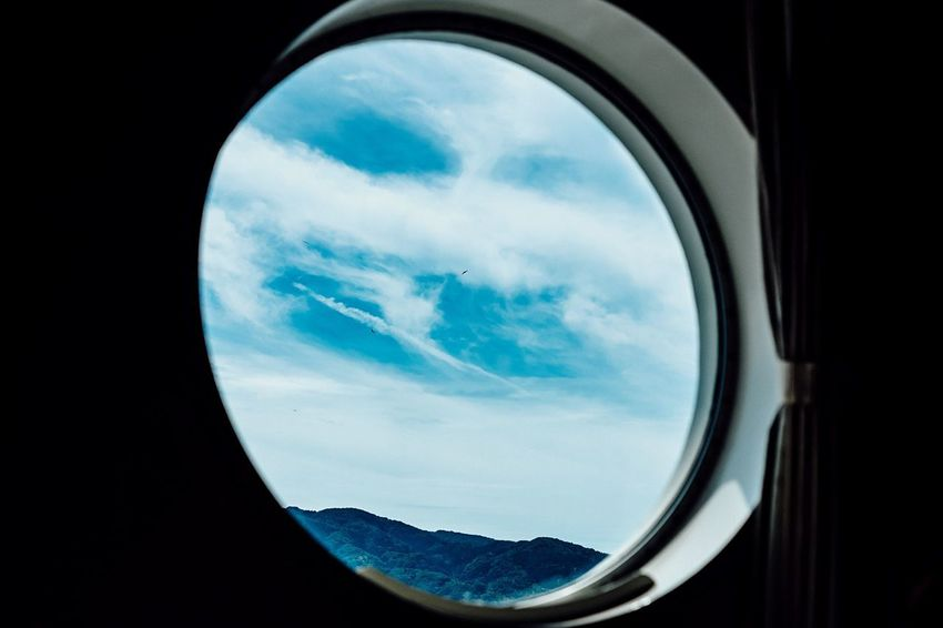 From The Window Blue Sky White Clouds Ship Window Window View Green And Sky Two Birds In Frame Traveling Photography No People Clouds And Sky Beauty In Nature Silence Is Golden Time Is Running Out Traveling Travel Photography Sky Cloud - Sky Indoors  Circle Window From My Point Of View Travelphotography September September 2017