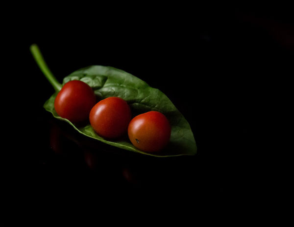 Black Background Close-up Copy Space Cut Out Food Food And Drink Freshness Fruit Green Color Healthy Eating Indoors  Nature No People Organic Red Ripe Still Life Studio Shot Tomato Vegetable Wellbeing The Still Life Photographer - 2018 EyeEm Awards