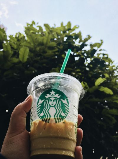 Starbucks Coffee Starbucks Doubleshotespresso Expresso  Human Hand Hand Holding One Person Human Body Part Refreshment Tree Personal Perspective Unrecognizable Person Drink Close-up Plant Real People Body Part Lifestyles Food And Drink Nature Day Leisure Activity Finger