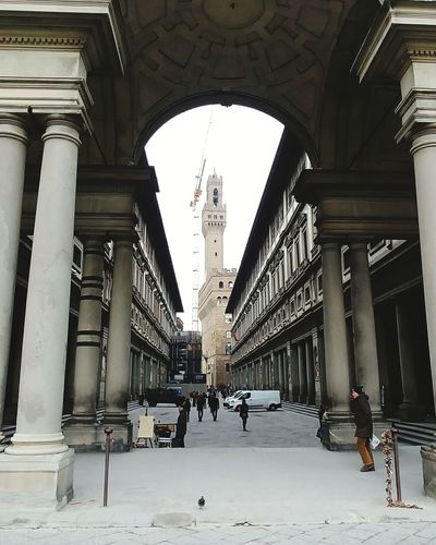 Firenze, Italy An Eye For Travel Arch Architectural Column Politics And Government People Day