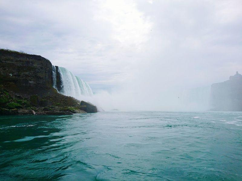Niagara Falls Water Waterfall Outdoors Scenics Cloud - Sky Beauty Nature Travel Niagara Falls NY Dreamy