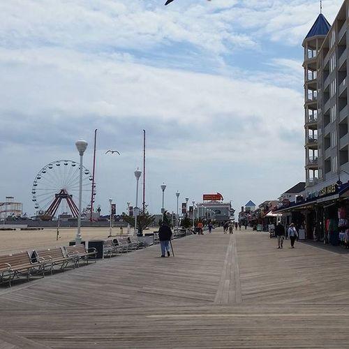 Sun is out, time for some boardwalking.... Oceancitycool OceanCity Maryland Ocmd Boardwalk