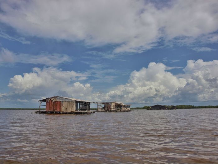 Bigi Pan Clouds And Sky Fisherman Cabins Suriname Surinam South America