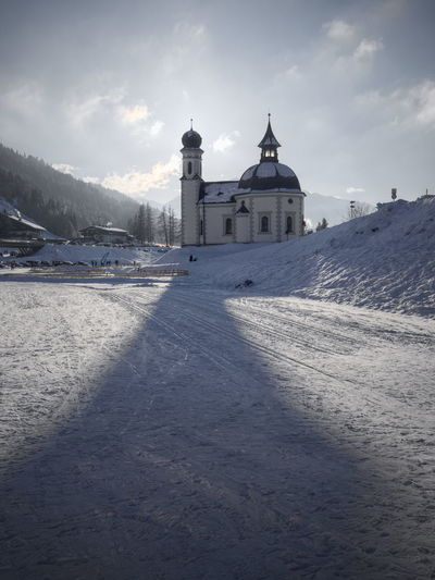The Seekirche in Seefeld, Tirol. Austria Architecture Beauty In Nature Building Exterior Built Structure Cold Temperature Day Nature No People Outdoors Place Of Worship Religion Seefeld Seekirchen Sky Snow Spirituality Winter