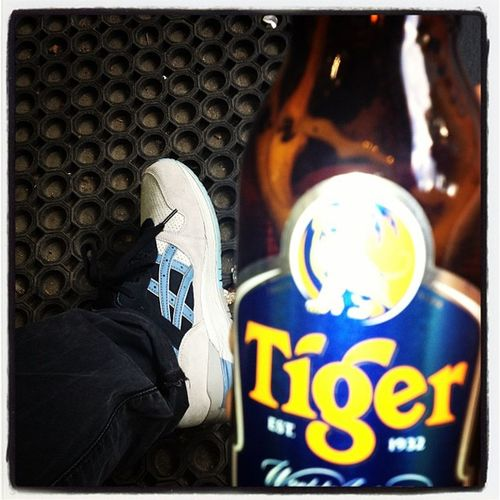 Asics Afew GellyteIII Camopack tigerbeer läuft...