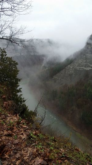 Beauty In Nature Canyon Nature Beauty Mist Grey Day
