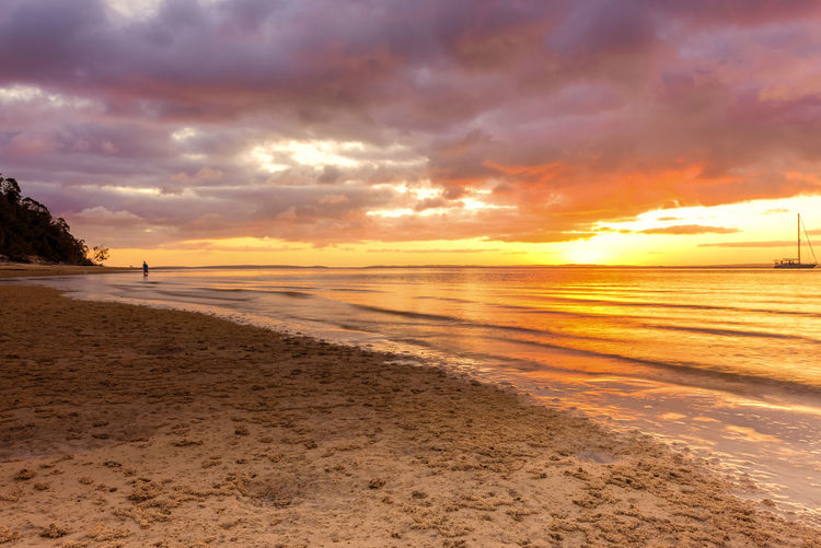 Sunset on the Beach Beach Beauty In Nature Cloud - Sky Day Horizon Over Water Nature No People Outdoors Sand Scenics Sea Shore Sky Sunset Tranquil Scene Tranquility Water
