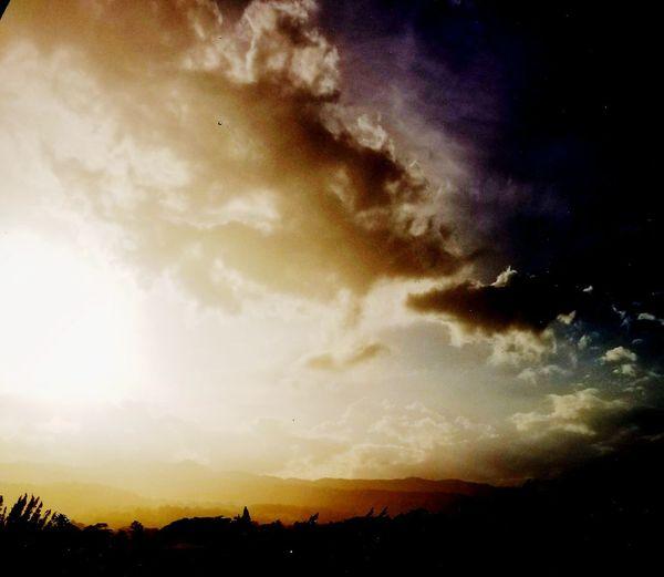 Jamaica Night. Natural Mystic.. Jamaica RASTA Trelawney Jamaica Sunset Cloud - Sky No People Nature Silhouette Sky Night Scenics Beauty In Nature Awe Outdoors Landscape Multi Colored