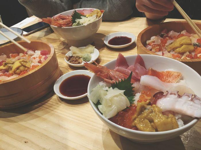 生魚片真的超級新鮮的威💕 20150516 Sat